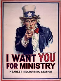 Recruiting ministry volunteers
