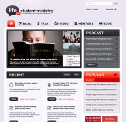 New design for StudentMinistry.org
