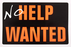 no help wanted